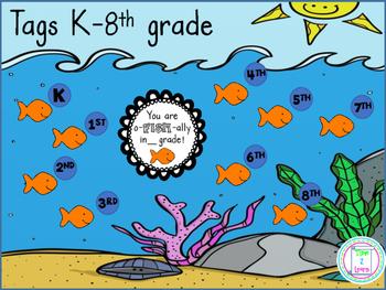 Back to School Goldfish Label