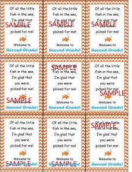 Back to School Goldfish Tags
