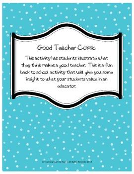 Back to School Good Teacher Comic