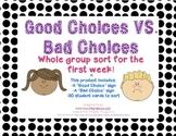 good choice bad choice sort teaching resources teachers pay teachers. Black Bedroom Furniture Sets. Home Design Ideas