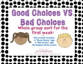 Back to School- Good/Bad Choices Sort-Whole Group (Routine