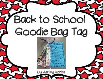 Back to School Goodie Bag Tag