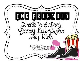 Back to School Goody Pack Labels