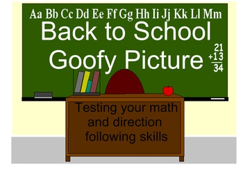 Back to School Goofy Picture (Multiplication and Division)