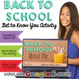 Back to School Google Activity