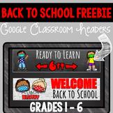 Back to School Google Classroom Headers | Social Distancin