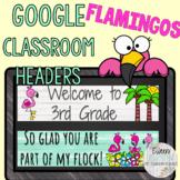 Back to School Google Classroom Headers SHIPLAP FLAMINGO T