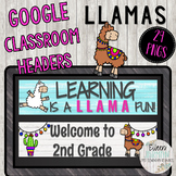 Back to School Google Classroom Headers SHIPLAP LLAMA Them