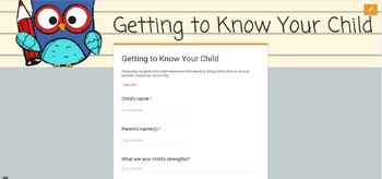 Back to School Google Forms and Easily Personalized Printable
