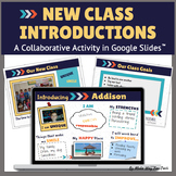 Back to School Collaborative Class Activity (All About Me) for Google Classroom