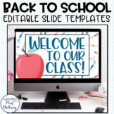 Back to School Google Slides Templates Distance Learning