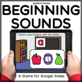 Back to School Google Slides activity Beginning sounds review | Alphabet Letters
