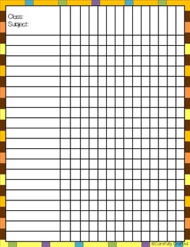 Grade Book and Checklist {70+ Printable Backgrounds}