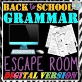 Back to School Grammar Digital Escape Room for Distance Learning