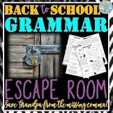 Back to School Grammar Escape Room