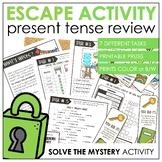 Present Tenses Grammar Review - Escape Room Activity | ELL