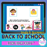 Back to School Grammar and Vocabulary BOOM Cards™