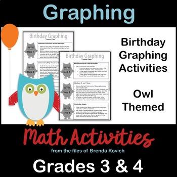 Graphing Birthdays - Owl Theme