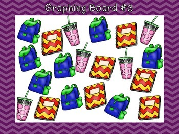 Back to School Graphing Boards with Data Sheets