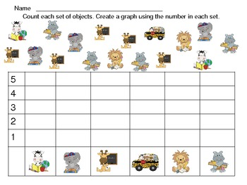 Back to School Graphing Practice for Kindergarten