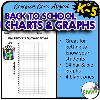 Back to School Graphs and Charts  – Common Core Aligned