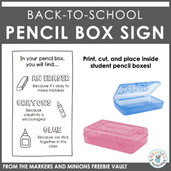 Back to School Greeting/Pencil Box Gift