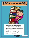 Distance Learning- Back to School- Greetings & Class Rules Bundle in Spanish-