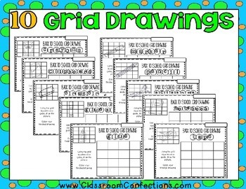 Back to School Math: Grid Drawings