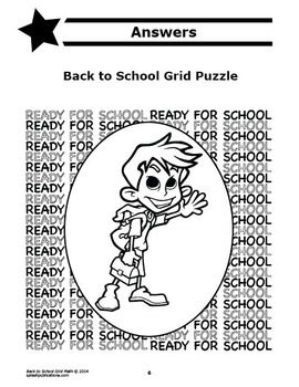 Back to School Activity (Mystery Puzzle, Coordinate Graphing Picture)