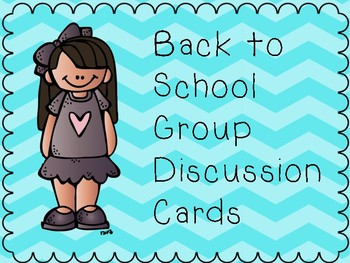 Back to School Group Get to Know You Cards