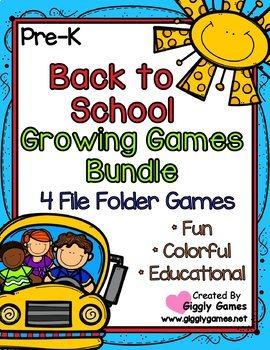 Back to School GROWING Games Bundle