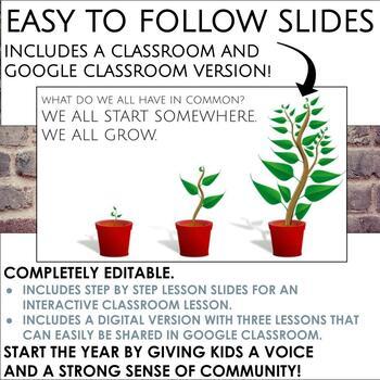 Back to School Growth Mindset Activity for Grades 6-8 ELA