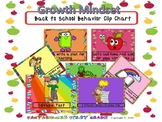Back to School - Growth Mindset Behavior Clip Chart