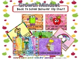 Back to School - Growth Mindset Behavior Clip Chart -Crayon Scribbles