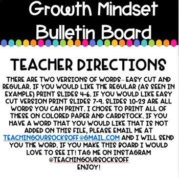 Back to School: Growth Mindset Bulletin Board