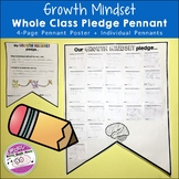 Back to School Growth Mindset Whole Class Pledge Pennants