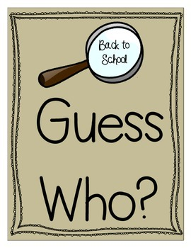 Back to School - Guess Who?