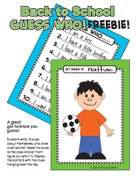 Back to School - Guess Who - Freebie!