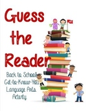 "Back-to-School ""Guess the Reader"""