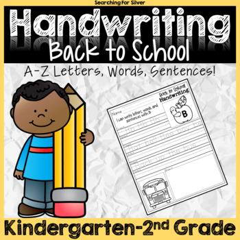 Back to School Handwriting No-Prep