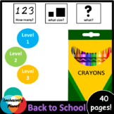 Back to School HOW MANY, WHAT SIZE, WHAT? Adapted book lev