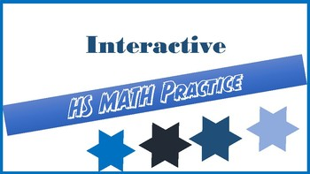 Back to School HS Math Assessment