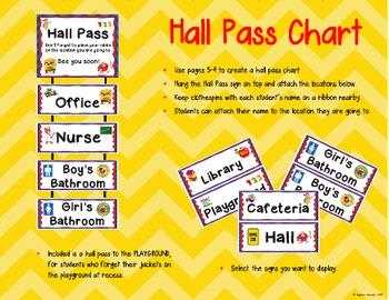 Back to School Hall Pass
