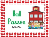 Back to School Hall Passes