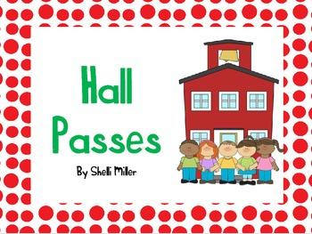 Back to School Hall Passes