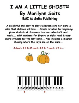 Back to School, Halloween Bundle of 4 songs w/ finger numbers and chord symbols.