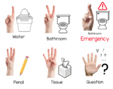 Back to School Hand Signal Posters and Writers Check List
