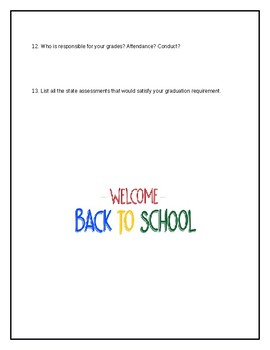 Back to School Handout