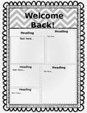 Back to School Handout (editable)