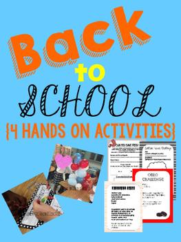 Back to School Hands on Activities